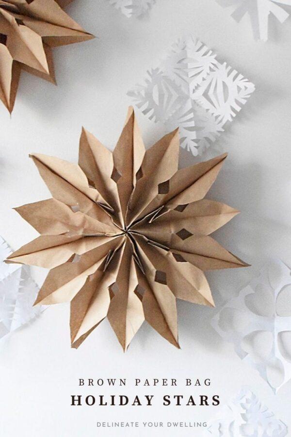 DIY Paper Bag Stars