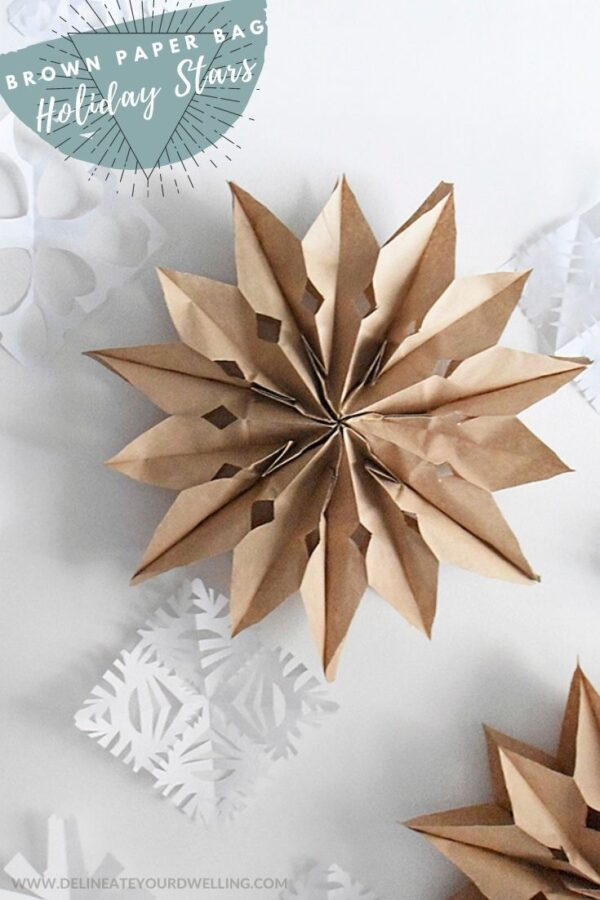 Brown Paper Bag Christmas Stars