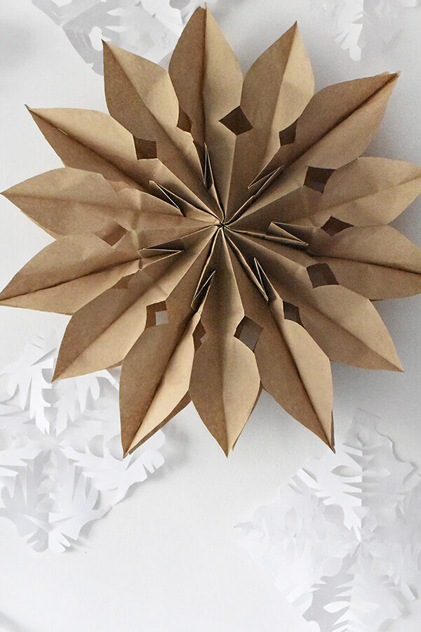 DIY Brown Paper Bag Holiday Stars