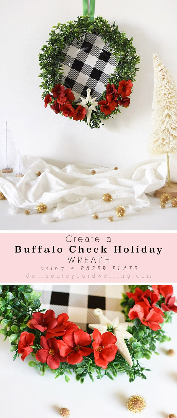 Buffalo Check Christmas Wreath.Black And White Buffalo Check Holiday Wreath Delineate