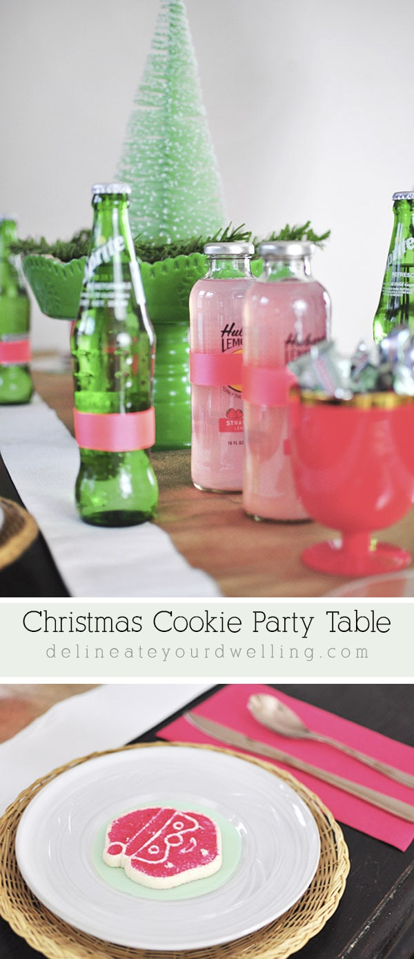 Colorful Christmas Cookie Table
