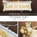Let it Snow Modern Christmas Sign