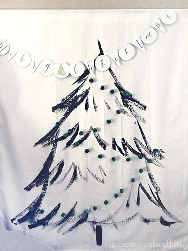 Christmas Tree Wall Hanging garland