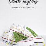 Green Tassel Gold Splatter Chuck Taylors
