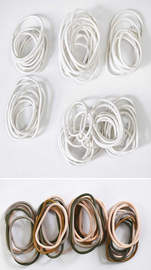 White and Colored Clay Rings