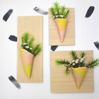 How to make a Clay Vase Wall Hanging