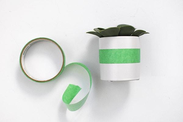 Color Block Cactus step1, painters tape