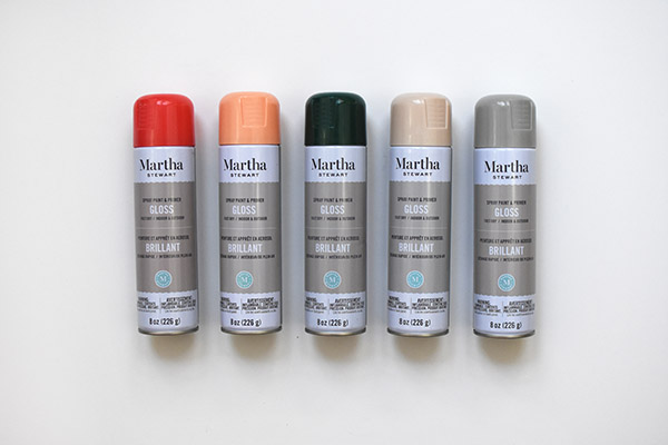 Martha Stewart Spray Paints
