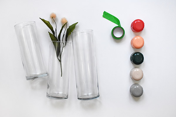 Color Block Vase -supplies