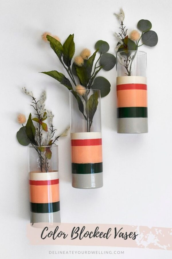 Striped Flower Vase