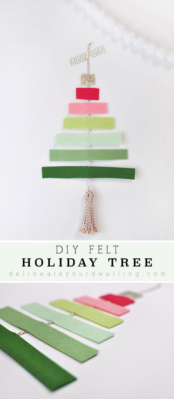 Colorful DIY Felt Tree