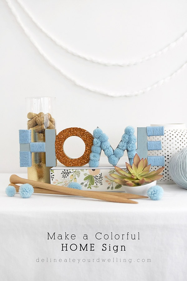 Blue Home Sign
