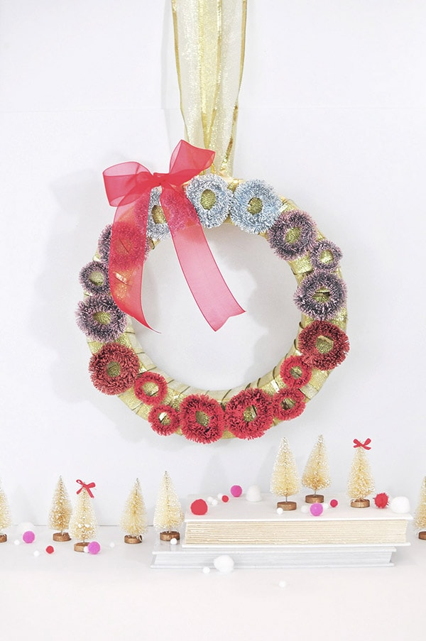 Colorful Ombre Christmas Wreath