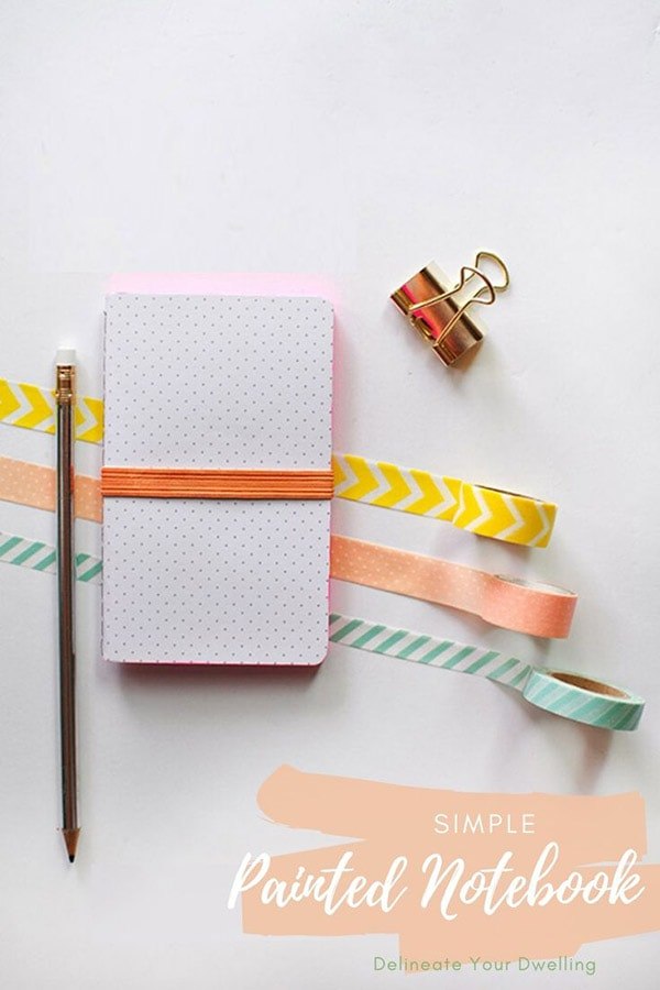 Colorful Painted Notebook