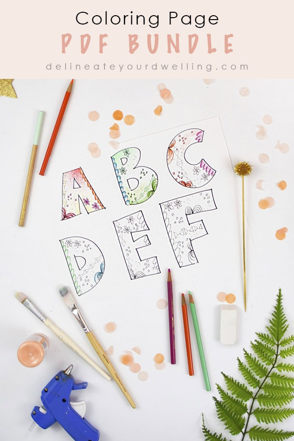 Block Alphabet coloring page