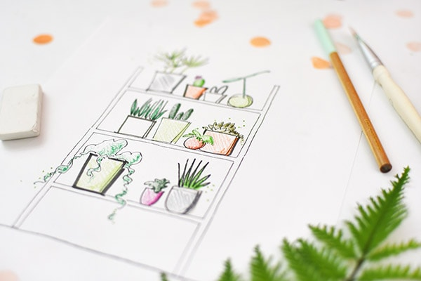 Plant Coloring Pages for adults. Delineate Your Dwelling