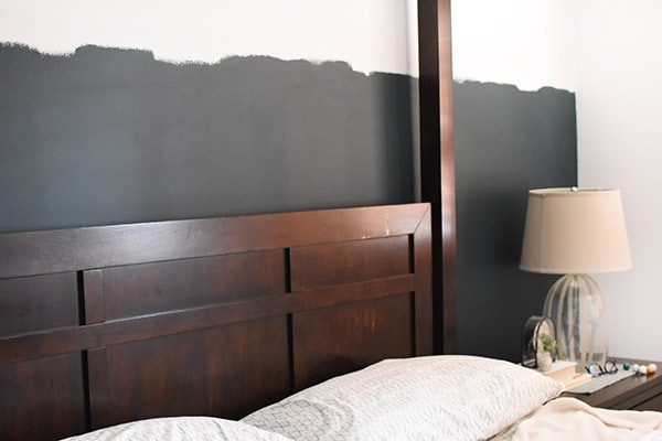 Teal Paint Line Accent Wall