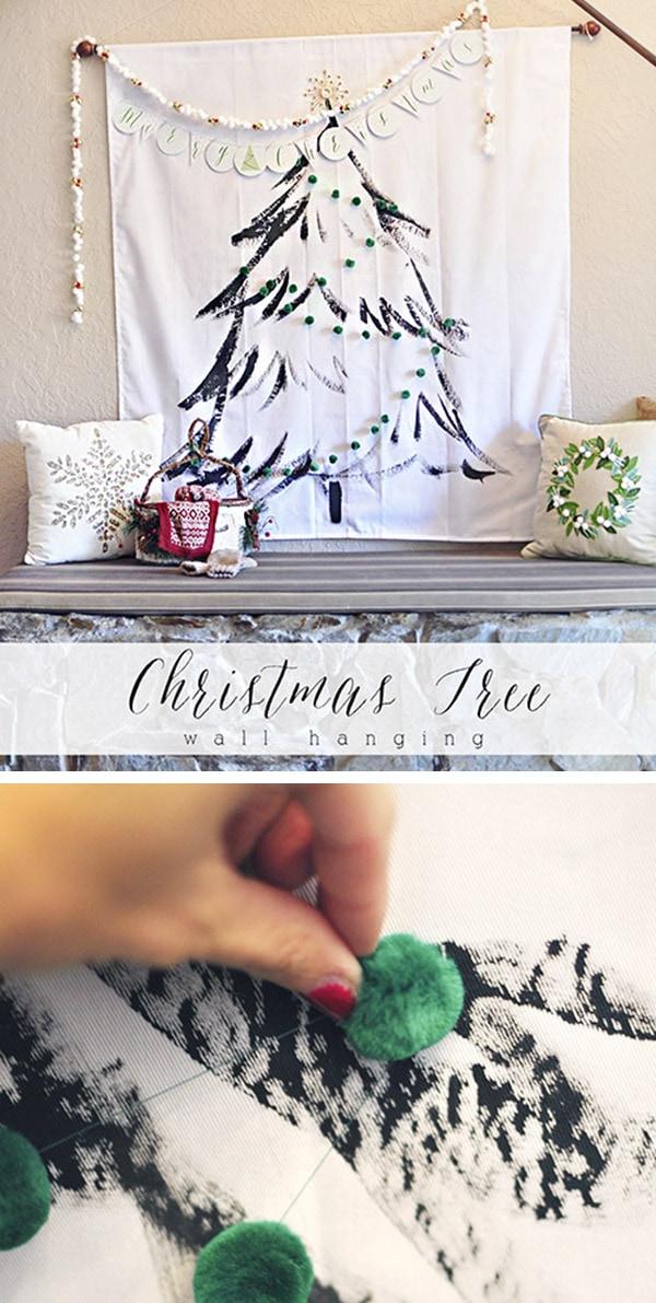 DIY Christmas Tree Wall Hanging