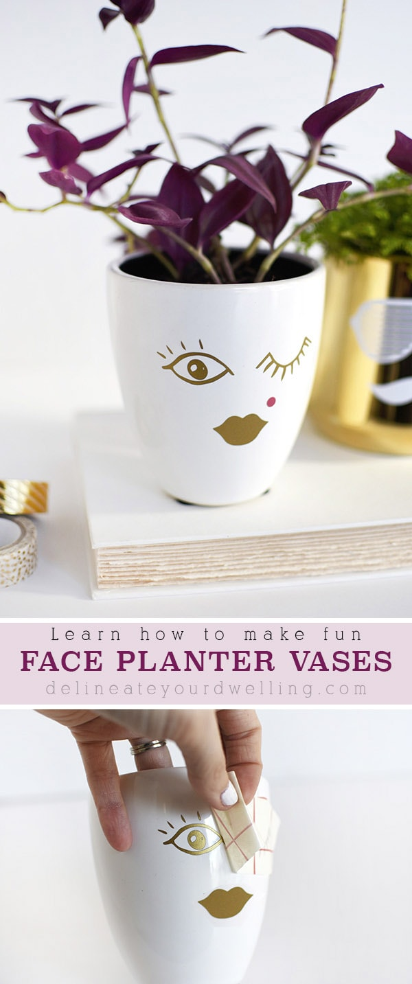 Lady Face Planter Vase