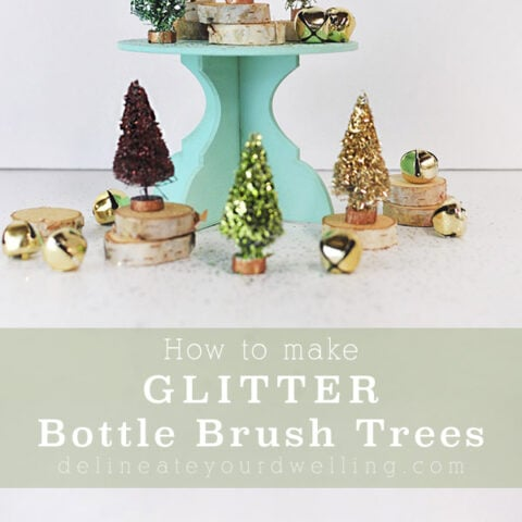 Colorful Glitter Bottle Brush Trees