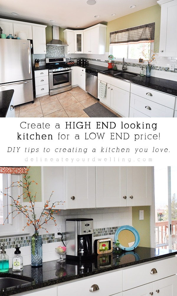 Get an inside look into renovating a kitchen for less.  Find tips and tricks to save money while getting a high end look. Delineate Your Dwelling #kitchenreno