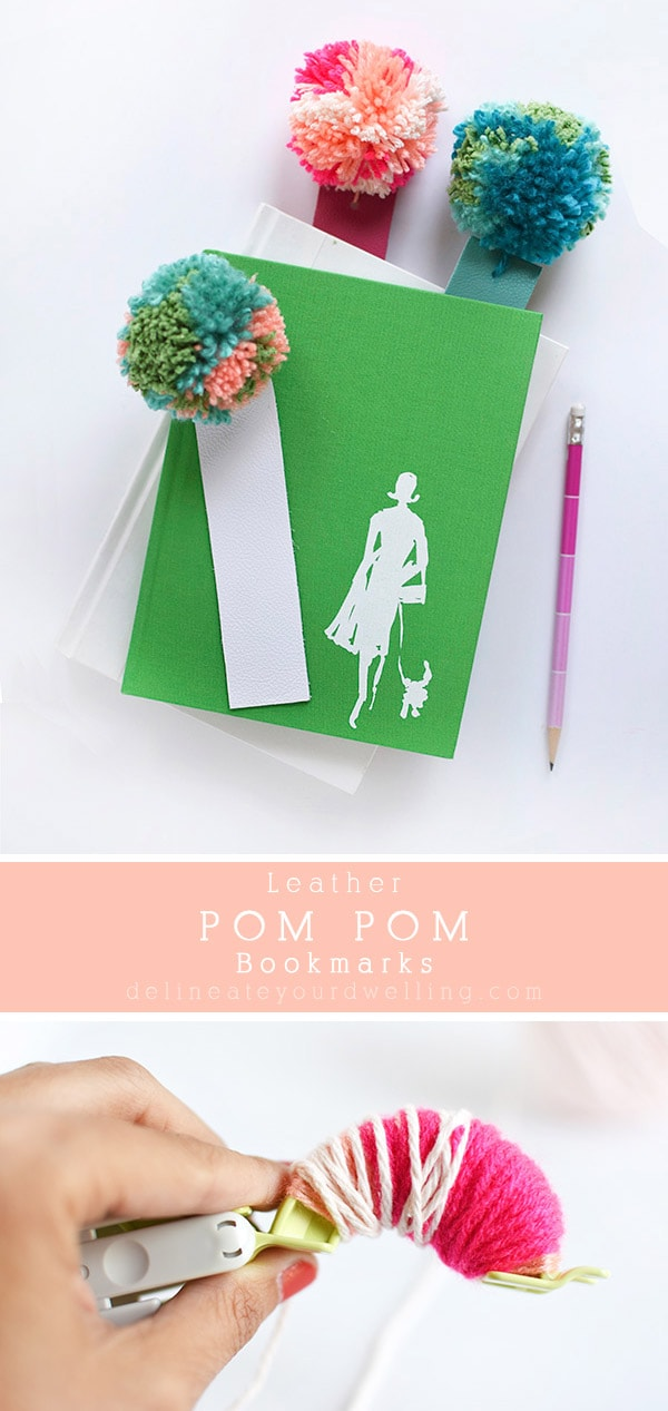 Pom Pom Maker Green Book Bookmark