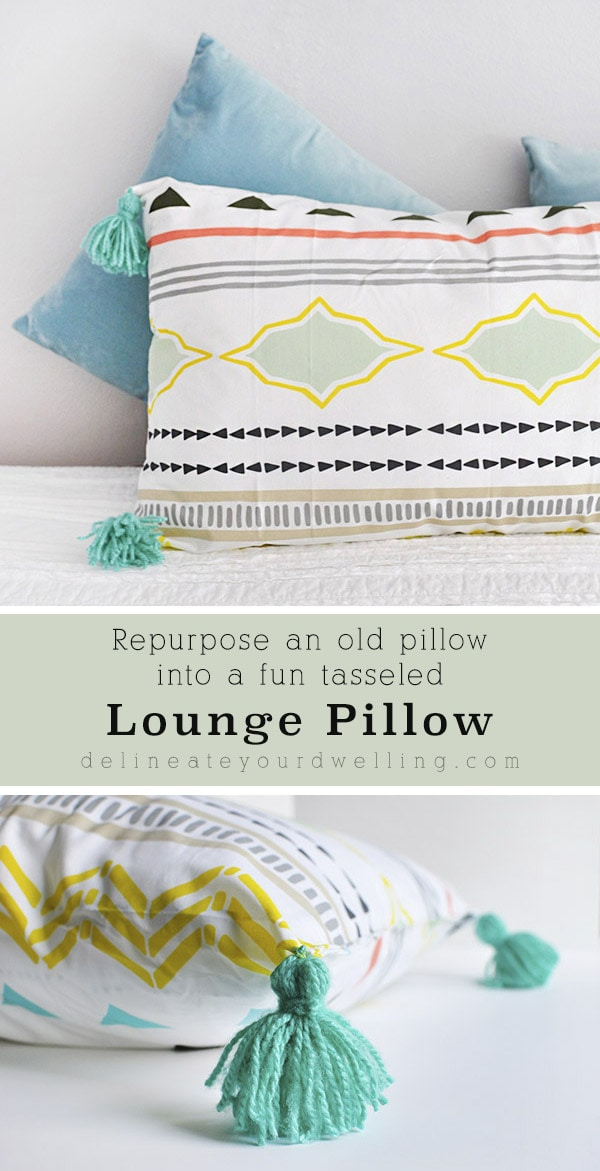 DIY Lounge Tassel Pillow