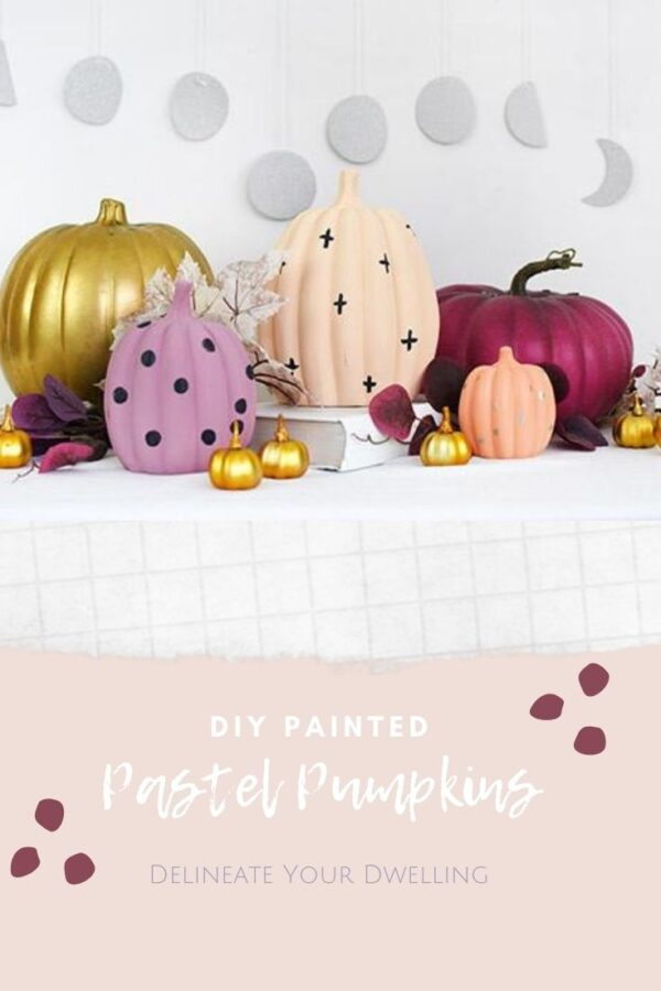 DIY Painted Pastel Pumpkins