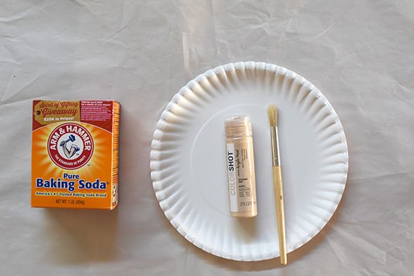 DIY Ring Planter, baking soda paint
