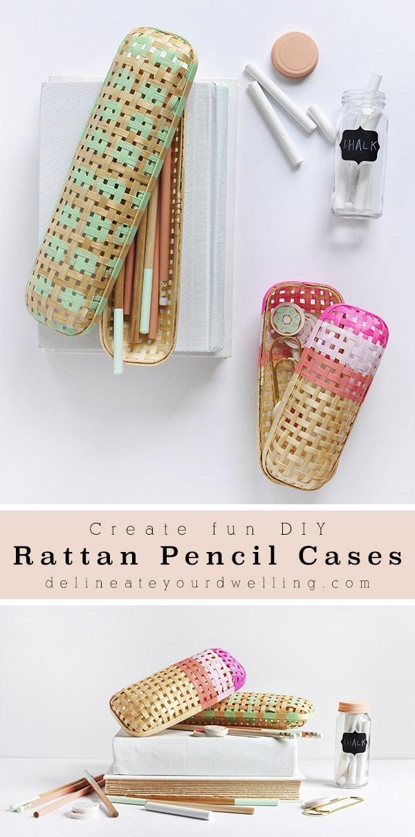 Rattan Pencil Cases