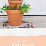 DIY Stacked Herb Planter