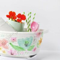 Easy DIY Watercolor Basket