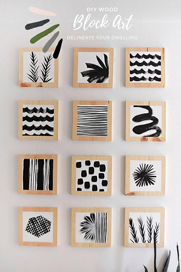DIY Wood Block Art