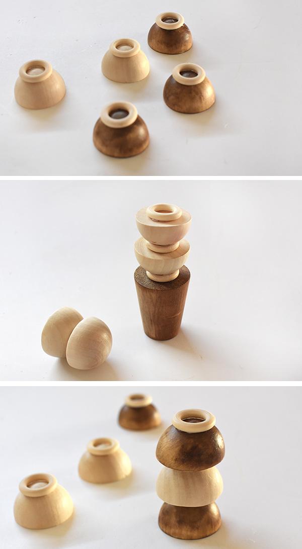 Wooden Half Circles