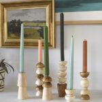 DIY-Wooden-Candlesticks