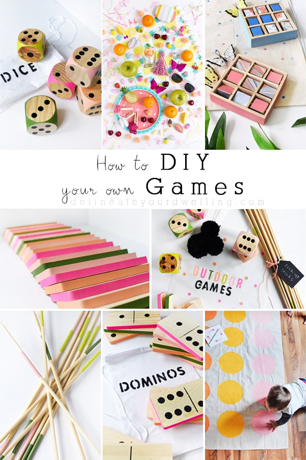 Learn how to DIY your very own games! Such fun. Delineate Your Dwelling #DIYgames