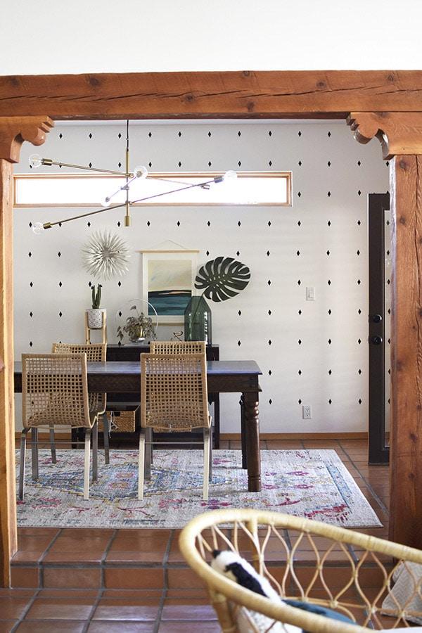 Diamond Accent DIY Wallpaper Pattern Decals