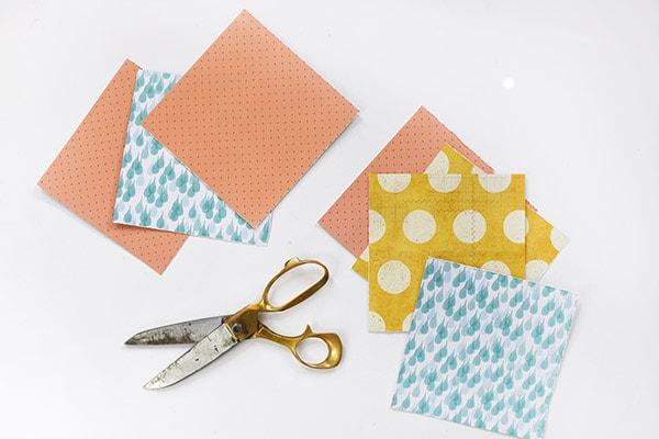 Scrapbook paper squares
