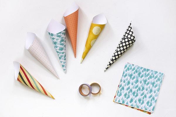 Creating paper cones
