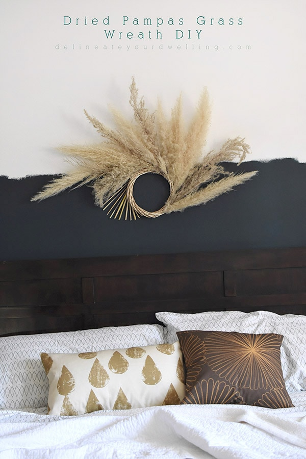 Dried Pampas Grass Wreath DIY