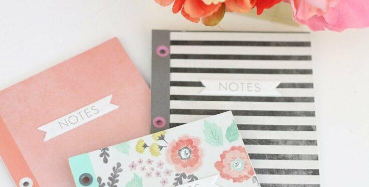 DIY: Eyelet Bound Notebooks