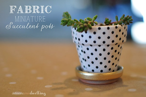 Fabric covered Pots-1