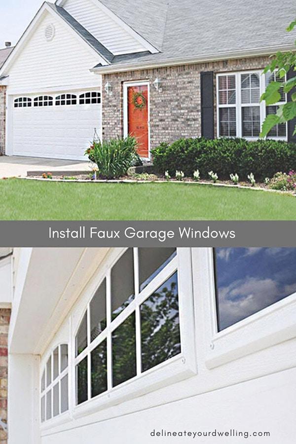 Fake Garage Windows