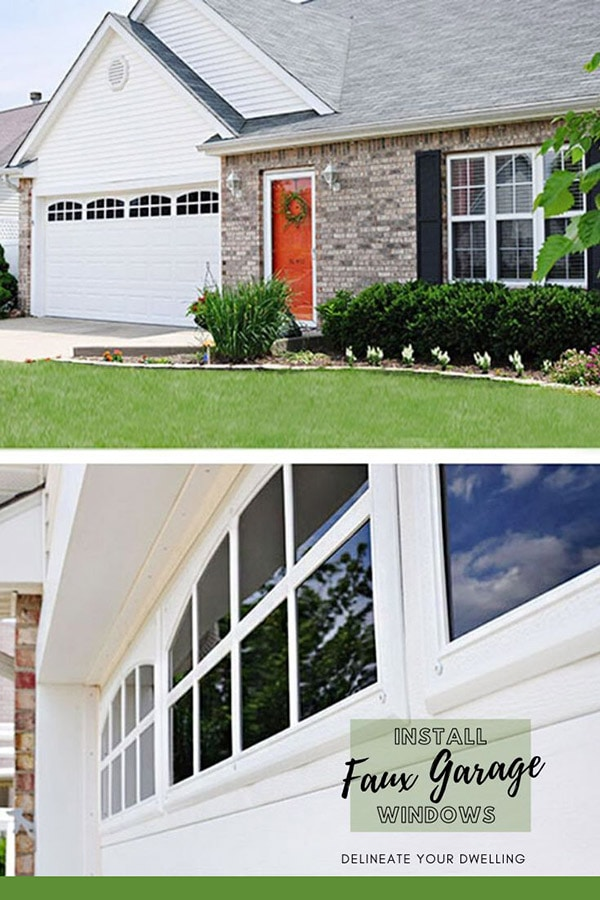 Faux Garage Windows