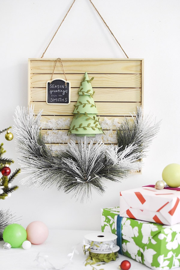 Scandinavian Wood Plank Christmas Sign