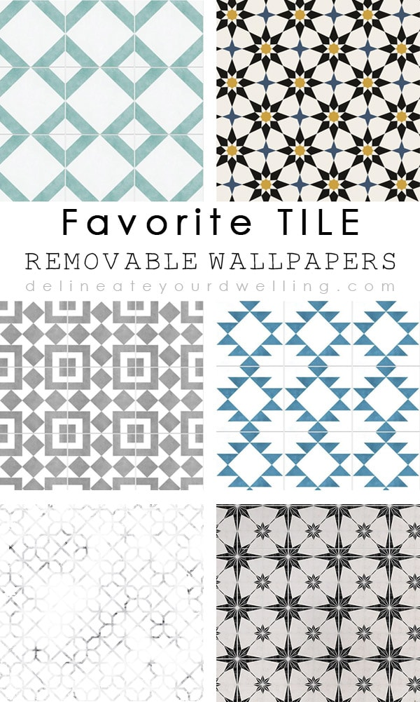 Check out some of the most trendy and realistic Morrocan and Cement tile removable wallpaper options out there! You will be surprised at how simple they are to install, too. Delineate Your Dwelling #removablewallpaper #morrocantile