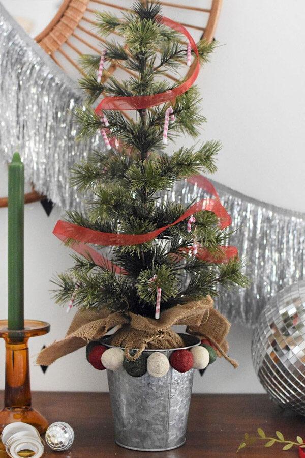 Felted Ball Christmas Tree