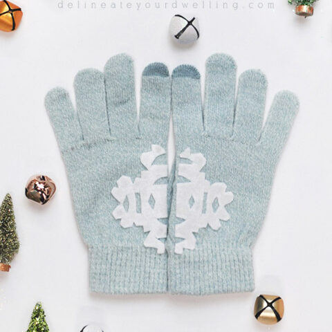 How to make No Sew DIY Felt Snowflake Mittens