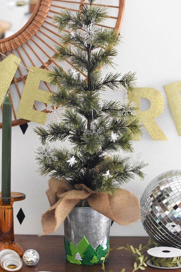 Felted Tree Sticker Christmas Tree