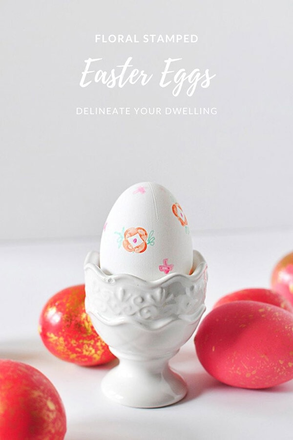 Floral Stamped Eggs